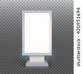 digital signage. blank... | Shutterstock .eps vector #420951694