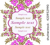 invitation or wedding card with ... | Shutterstock .eps vector #420952990