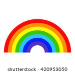 rainbow icon. arch spectrum.... | Shutterstock .eps vector #420953050