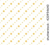 orange seamless dots pattern  | Shutterstock .eps vector #420954640
