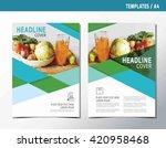 flyer leaflet brochure template ... | Shutterstock .eps vector #420958468