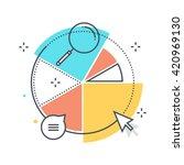 color line  statistics ... | Shutterstock .eps vector #420969130