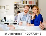 business people office... | Shutterstock . vector #420973948