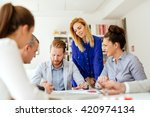 business people discussing... | Shutterstock . vector #420974134