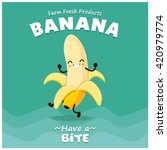 vintage banana poster design... | Shutterstock .eps vector #420979774
