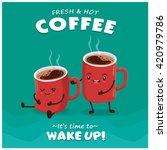 vintage coffee poster design... | Shutterstock .eps vector #420979786