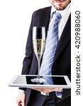 a businessman wearing a suit... | Shutterstock . vector #420988060