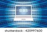 vector backdrop with laptop ...   Shutterstock .eps vector #420997600
