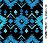 bright hand drawn tribal... | Shutterstock .eps vector #421000048