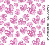 seamless vector pattern with... | Shutterstock .eps vector #421000999