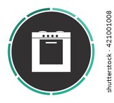 stove simple flat white vector...