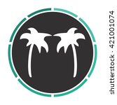palms simple flat white vector...