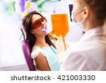 overview of dental caries...   Shutterstock . vector #421003330