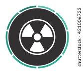 radiation simple flat white...   Shutterstock .eps vector #421006723