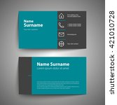 modern simple business card set ... | Shutterstock .eps vector #421010728