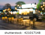 abstract blur food truck for... | Shutterstock . vector #421017148