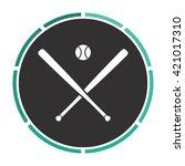 baseball simple flat white...