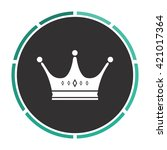crown simple flat white vector...