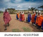 masai mara   october 02   young ... | Shutterstock . vector #421019368