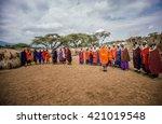 masai mara   october 02   young ...   Shutterstock . vector #421019548