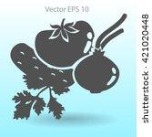 flat vegetables icon | Shutterstock .eps vector #421020448