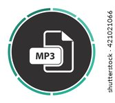 mp3 simple flat white vector...