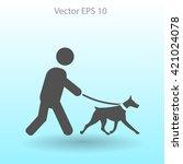 walking dog vector icon | Shutterstock .eps vector #421024078