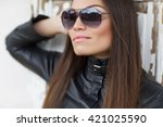 young stylish woman | Shutterstock . vector #421025590