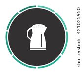 kettle simple flat white vector ...