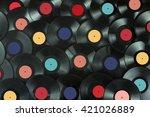 Colored Vinyl Record Close Up