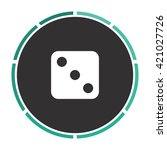 dice 3 simple flat white vector ...