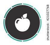 apple simple flat white vector...