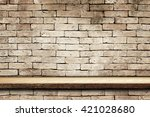 empty top wooden shelves and... | Shutterstock . vector #421028680