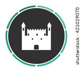 castle simple flat white vector ...