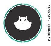 mask simple flat white vector... | Shutterstock .eps vector #421030960