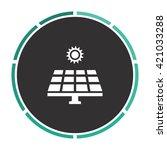 solar energy simple flat white...