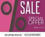 sale  special offer web banner... | Shutterstock .eps vector #421040080