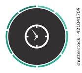 clock simple flat white vector...