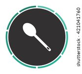 spoon simple flat white vector... | Shutterstock .eps vector #421041760