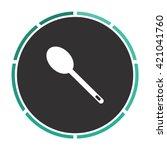 spoon simple flat white vector... | Shutterstock .eps vector #421041760