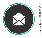 mail simple flat white vector...