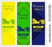 brazilian summer games posters... | Shutterstock .eps vector #421042330