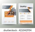 poster brochure flyer design...   Shutterstock .eps vector #421042954