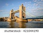Tower Bridge In London  Uk....
