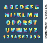 bright and colorful typeface... | Shutterstock .eps vector #421051126