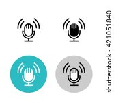 podcast icon set. black studio... | Shutterstock .eps vector #421051840