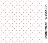 pink seamless dots pattern  | Shutterstock .eps vector #421055314