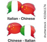 italian chinese cloud for...   Shutterstock .eps vector #421061176