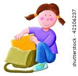 Illustration Of Little Girl...