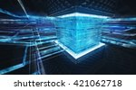abstract multimedia conceptual... | Shutterstock . vector #421062718